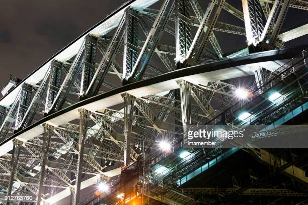 Closeup Harbour Bridge at night