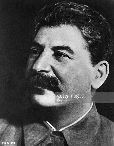 Close-up head shot of Joseph Stalin, . He ruled the U.S.S.R. As General Secretary of the Communist Party, and then Premier, from 1922-1953. Undated...