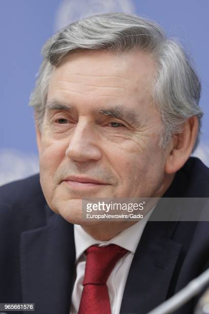 Close-up headshot portrait of Gordon Brown, United Nations Special Envoy for Global Education and Chair of the International Commission on Financing...