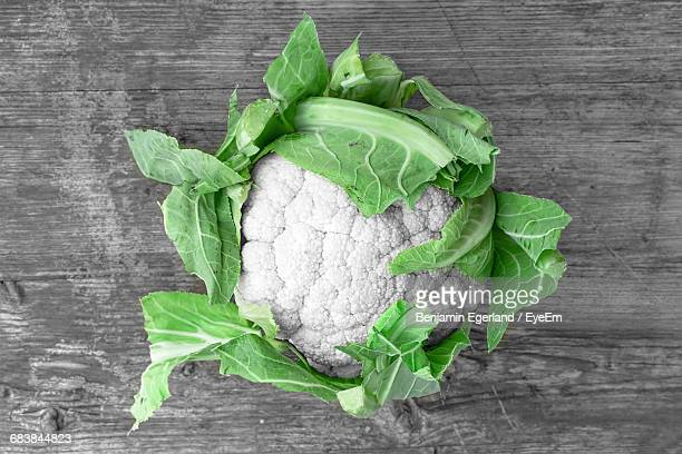 Close-Up High Angle View Of Cauliflower