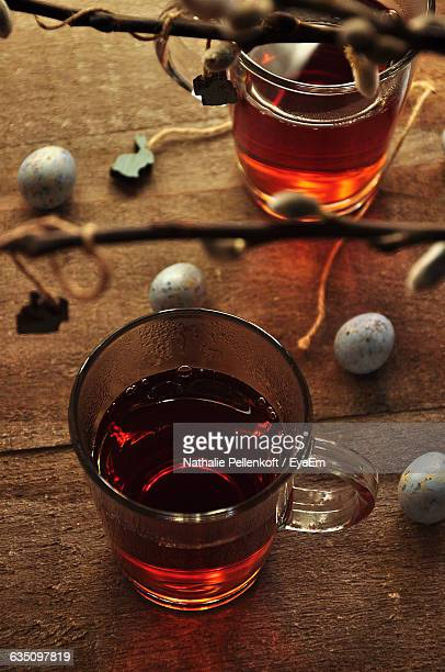 close-up high angle view of herbal tea - nathalie pellenkoft stock pictures, royalty-free photos & images