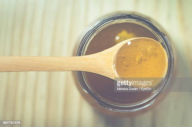 Close-Up High Angle View Of Honey