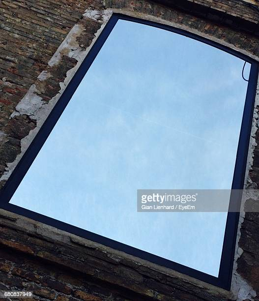 close-up low angle view of window - lienhard stock pictures, royalty-free photos & images