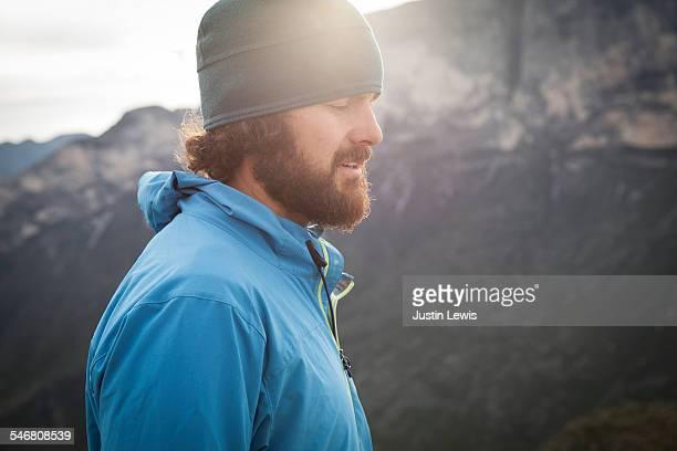Closeup Man Alone Outdoors Adventure