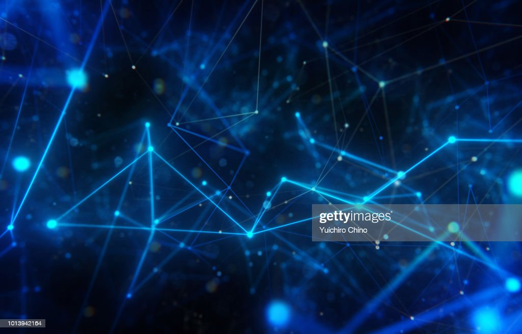 Closeup network space : Stock Photo