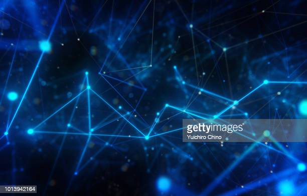 closeup network space - illuminate stock photos and pictures