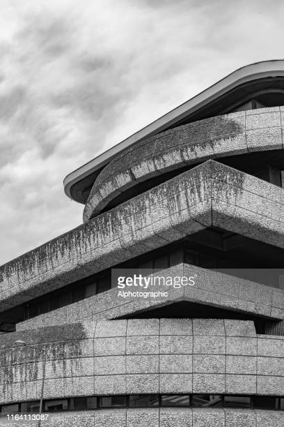 close-up of 1960s architecture in meriadeck area of bordeaux - bauhaus art movement stock pictures, royalty-free photos & images