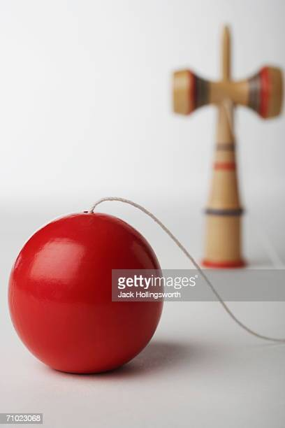 Close-up of a ball on a string