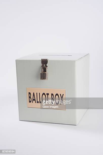 Close-up of a ballot box