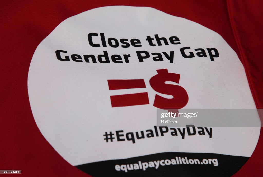 Women Rally On 'Equal Pay Day' to Demand Equal Pay For Women : News Photo