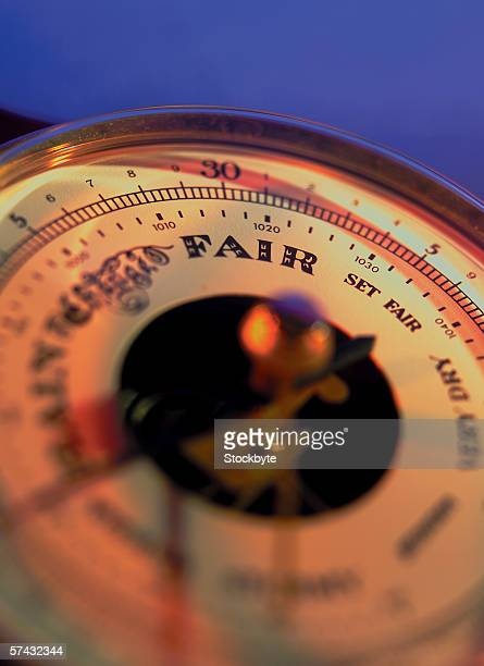 close-up of a barometer