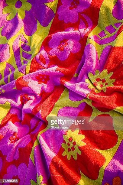 Close-up of a beach towel