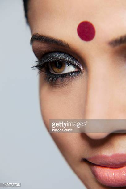 Close-up of a beautiful woman with a bindi