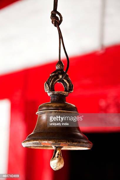 Close-up of a bell at a temple, Vashisht Temple, Manali, Himachal Pradesh, India
