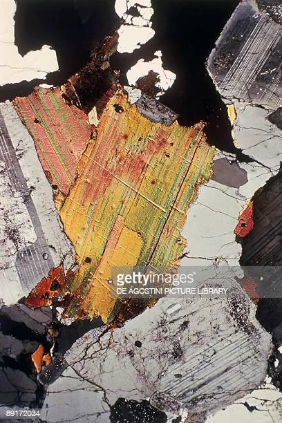 Closeup of a biotite rock