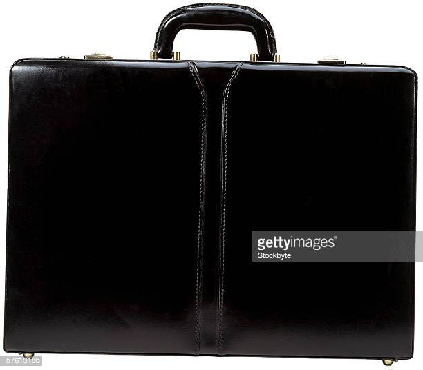close-up of a black briefcase