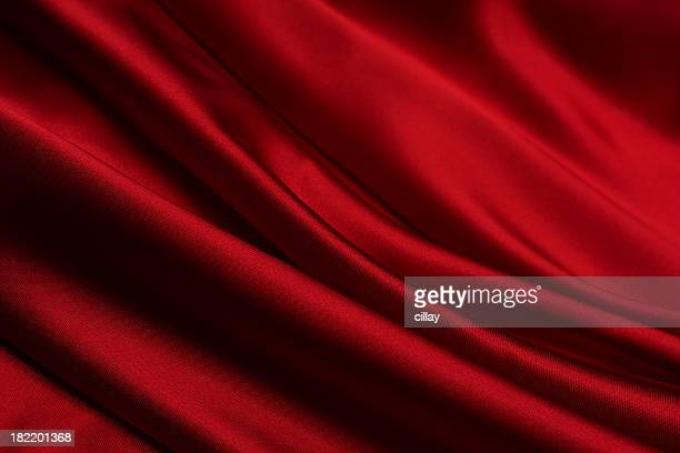 close-up of a blood red satin fabric - satin stock pictures, royalty-free photos & images