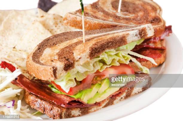 Closeup of a BLT Sandwich