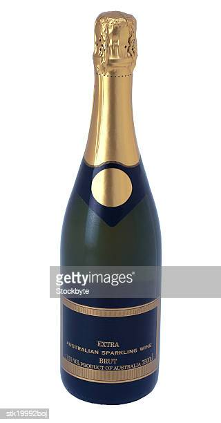 close-up of a bottle of champagne