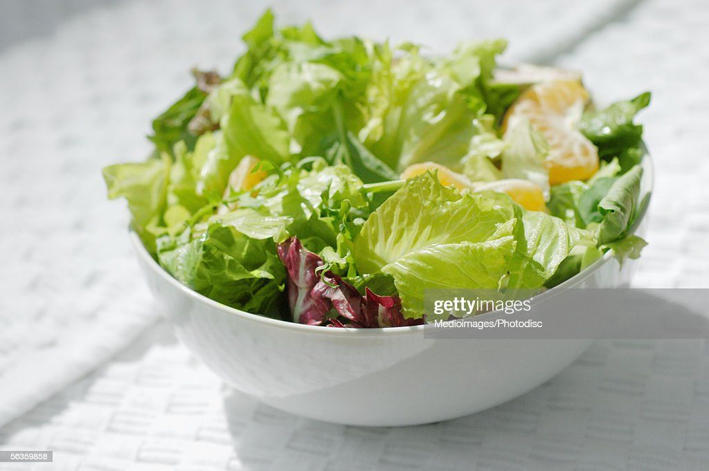 Close-up of a bowl of salad : Stock Photo
