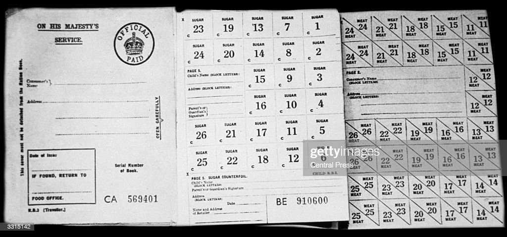 photo relating to Ration Book Ww2 Printable referred to as Ration Guide Top quality Shots, Illustrations or photos, Photographs - Getty Illustrations or photos