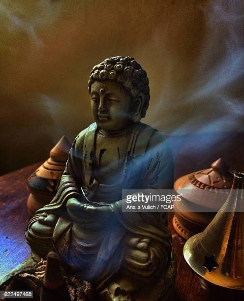 Close-up of a buddha statue
