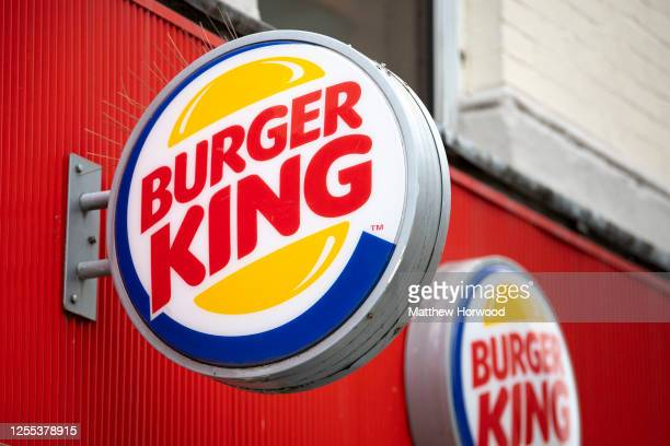 Close-up of a Burger King sign on July 09, 2020 in Cardiff, United Kingdom.Many UK businesses are announcing job losses due to the effects of the...