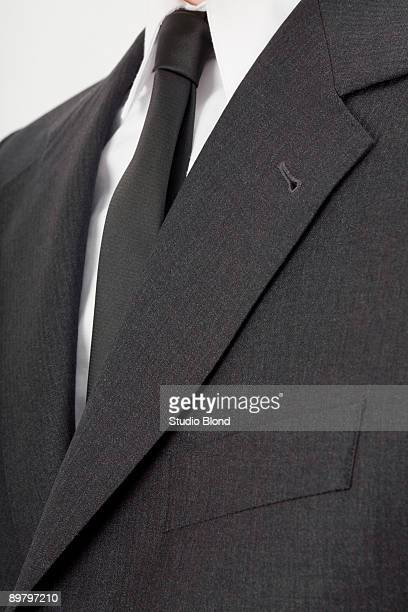 Close-up of a businessman's chest