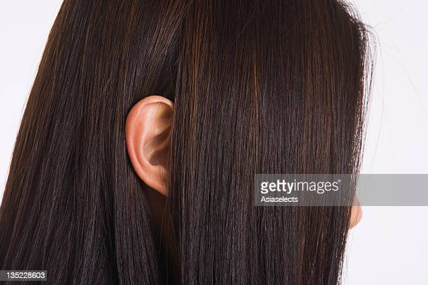 Close-up of a businesswoman's ear