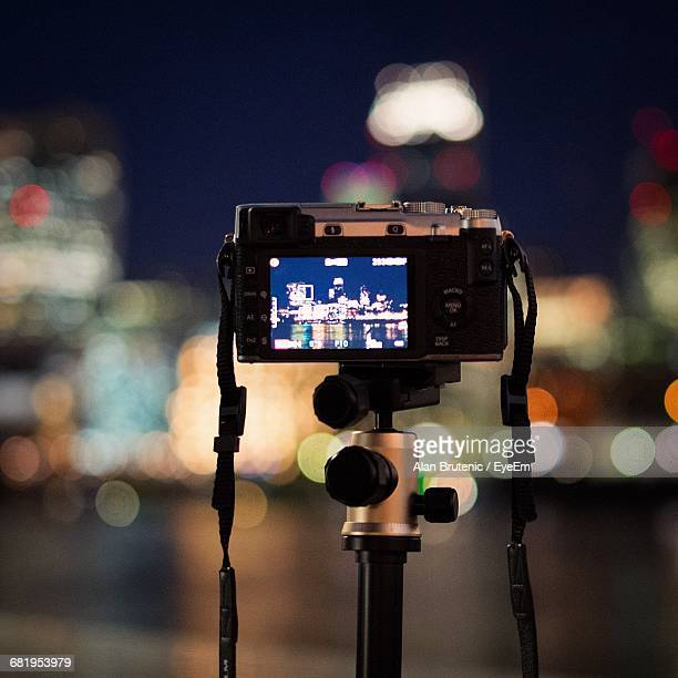 Close-Up Of A Camera Against Blurred Background