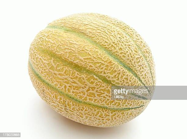 A close-up of a cantaloupe melon