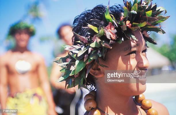 close-up of a child smiling, hawaii, usa - pazifikinseln stock-fotos und bilder