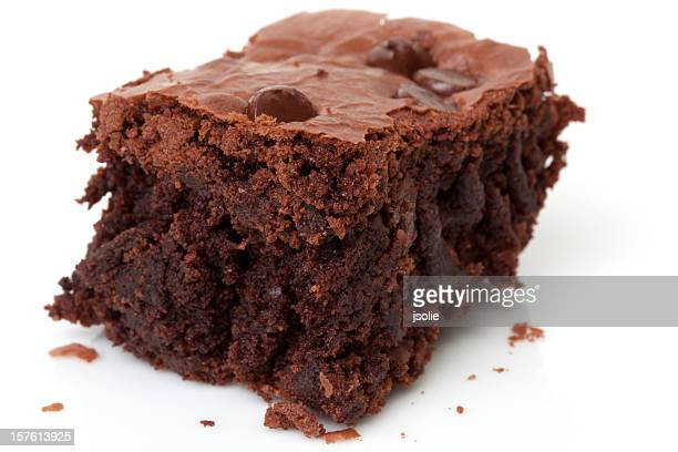 closeup of a chocolate brownie - brownie stock pictures, royalty-free photos & images