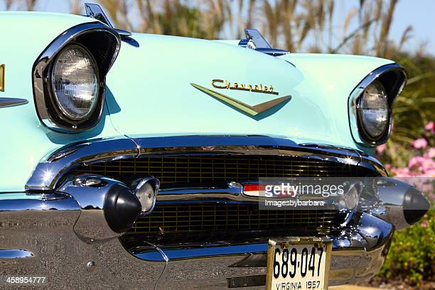 Close-up of a Classic 1957 Chevrolet