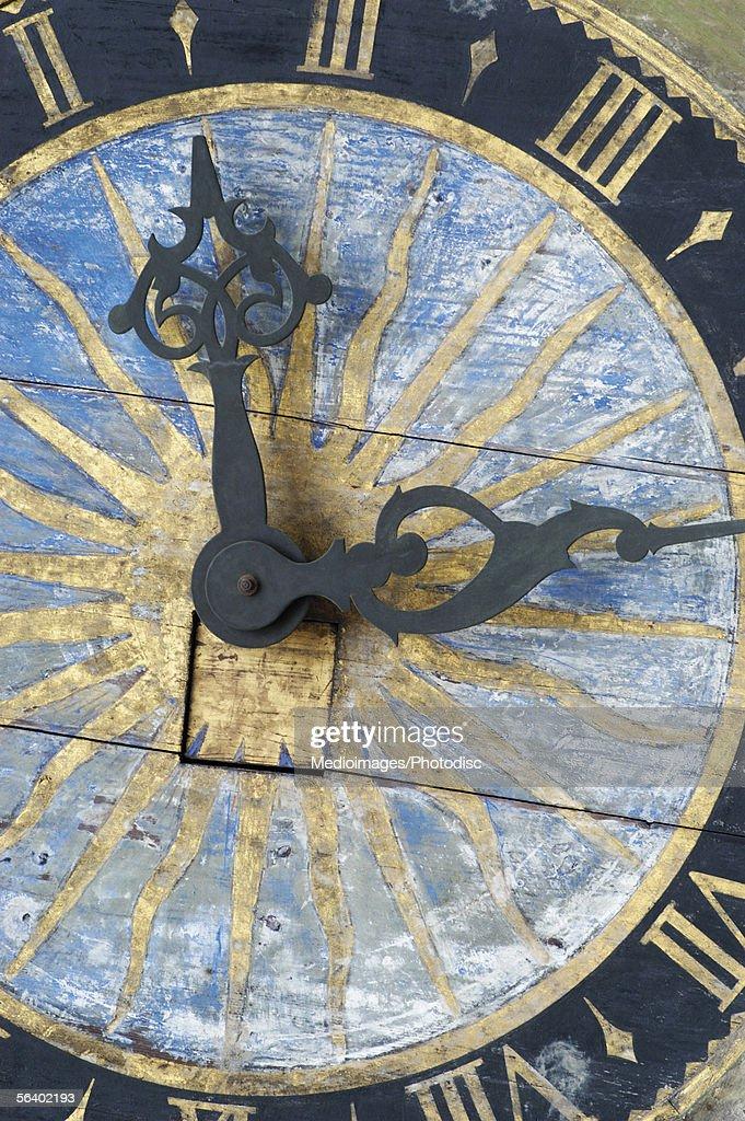 Close-up of a clock, Church Of The Holy Ghost, Tallinn, Estonia : Stock Photo