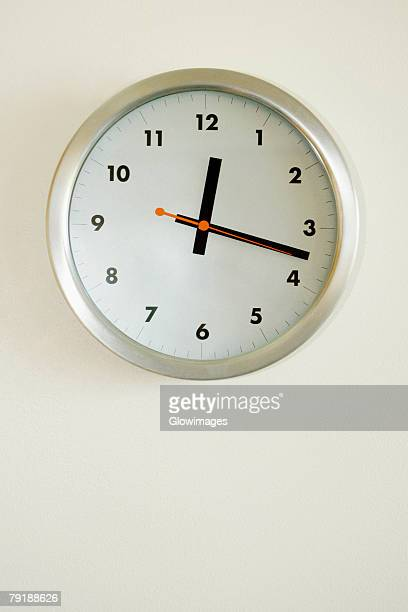close-up of a clock - wall clock stock photos and pictures