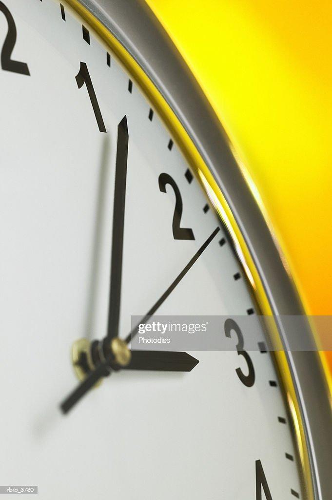 Close-up of a clock : Foto de stock