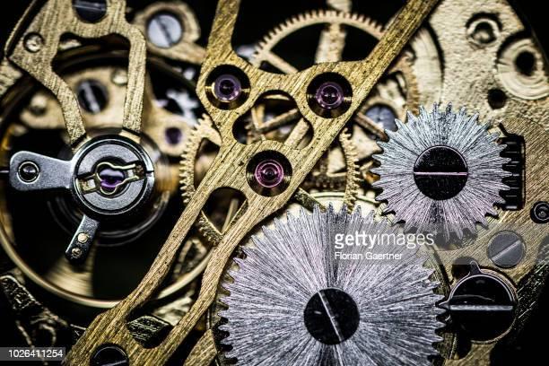 Closeup of a clockwork on August 16 2018 in Weisswasser Germany