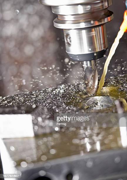 Nahaufnahme eines CNC Fräse in verwenden.