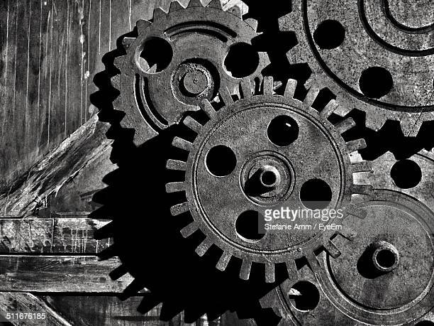 Close-up of a cogwheel