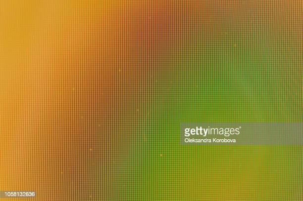 close-up of a colorful moire pattern on a computer screen. - pixels stock photos and pictures