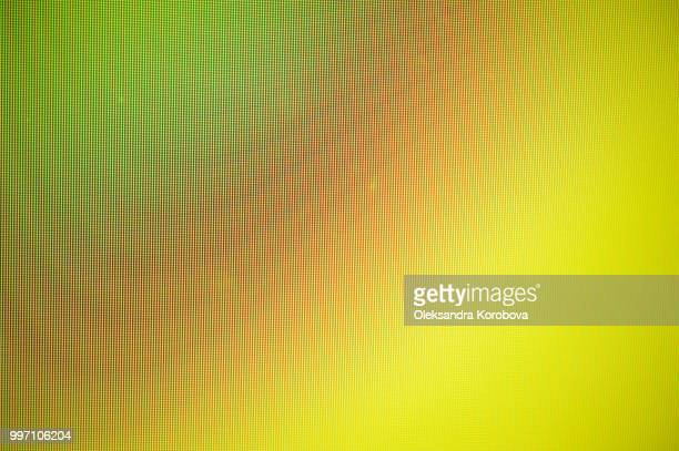 Close-up of a colorful moire pattern on a computer screen.