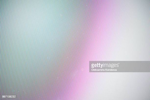 close-up of a colorful moire pattern on a computer screen. - formation stockfoto's en -beelden