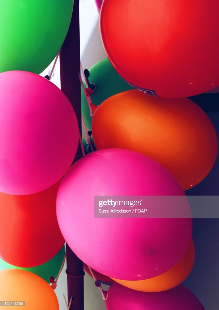 Close-up of a colourful balloons : Stock Photo