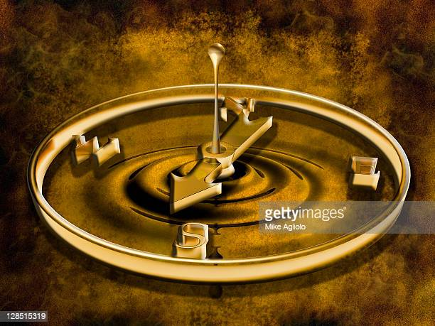 close-up of a compass - mike agliolo stock pictures, royalty-free photos & images