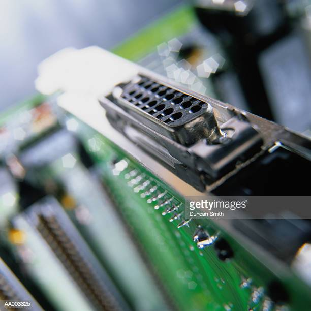 close-up of a computer port - datorport bildbanksfoton och bilder