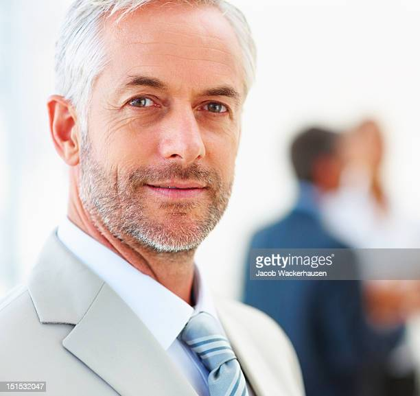 Close-up of a confident mature businessman