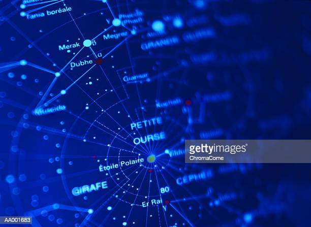 Close-up of a Constellation Map