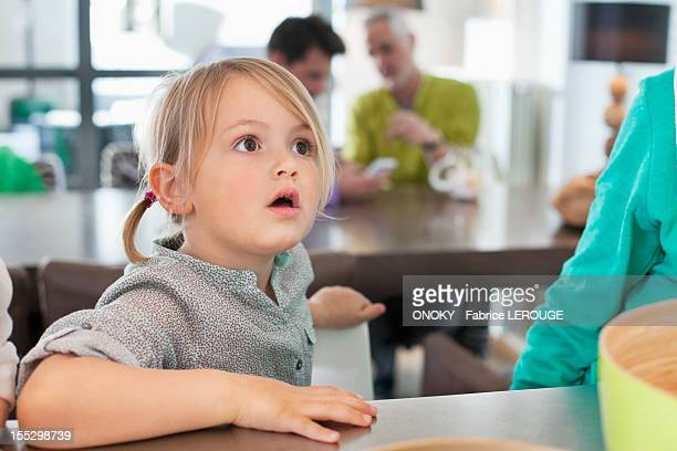 close-up of a cute girl looking surprised - staring stock photos and pictures