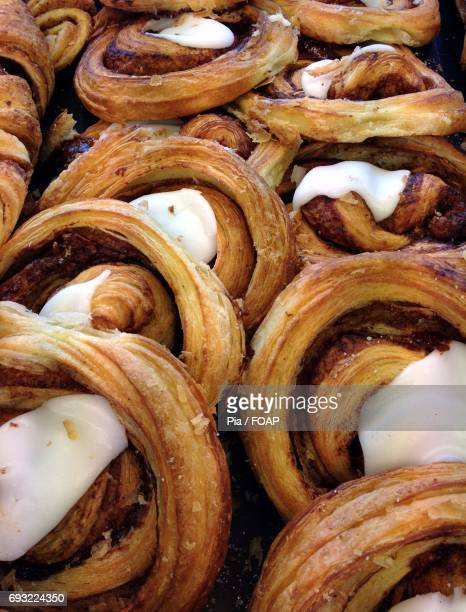 Close-up of a danish pastry